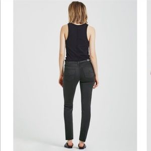 AG Cigarette skinny Mid rise grey pants